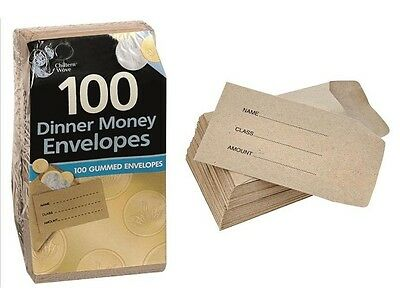 50 100 200 Small Brown Children School Wages Petty Cash Dinner Money Envelopes