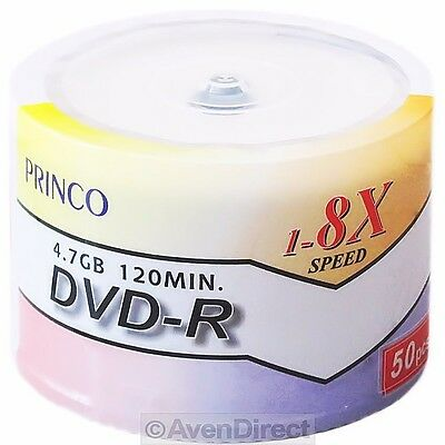200 New Princo 8X White Lacquer 4.7GB 120 Min DVD-R [FREE USPS Priority Mail]