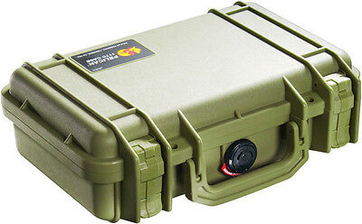 Pelican OD Military Green 1170 Case with Foam includes FREE engraved Nameplate