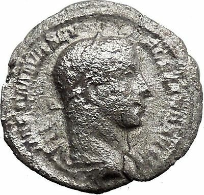 Severus Alexander 226AD Silver Ancient Roman Coin PAX Peace Goddess Cult  i32970