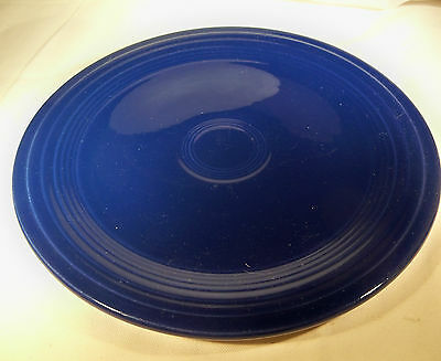 "VINTAGE HOMER LAUGHLIN CO. FIESTA COBALT BLUE 9-1/2"" DIAMETER DINNER PLATE!!"