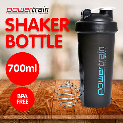GYM PROTEIN SUPPLEMENT DRINK BLENDER MIXER SHAKER SHAKE BALL BOTTLE CUP 700ml