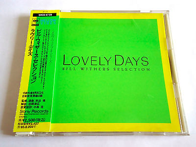 BILL WITHERS Selection Lovely Day JAPAN PROMO CD 1993 w/OBI SRCS-6739