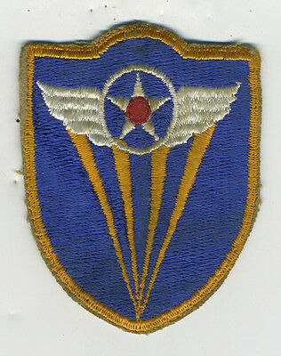 WWII US Military Patch of Star with Wings w/ Yellow Rays