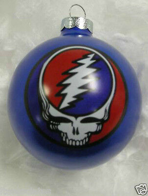GRATEFUL DEAD STEAL YOUR FACE  LIMITED EDITION ORNAMENT 1996 BLUE New