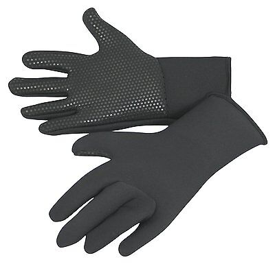 kids wetsuit gloves, titanium 3mm neo, grippy palms, warm & stretchy ages 5 to15