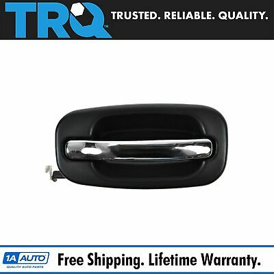 Chrome & Black Door Handle Left Rear Exterior for Chevy Silverado Pickup Truck