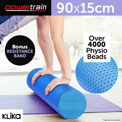 90x15cm EVA PHYSIO FOAM AB ROLLER YOGA PILATES EXERCISE BACK HOME GYM MASSAGE BU