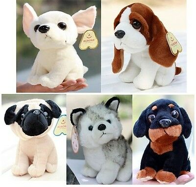 super cute plush animal toy Chihuahua Husky dog birthday gift 20cm 5pcs a lot