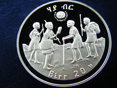 1979 Ethiopia Large Silver Proof 20 Birr-Year of the Child