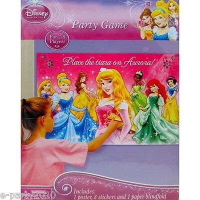 DISNEY PRINCESS Sparkle and Shine PARTY GAME POSTER ~ Birthday Supplies Aurora