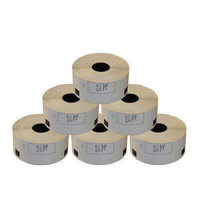 6 REFILL ROLLS DK11208 BROTHER COMPATIBLE LARGE ADDRESS LABELS 38x90mm DK 11208