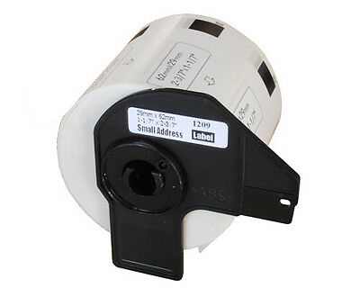 AFTERMARKET 1 ROLL DK11209 SMALL ADDRESS LABELS 29x62mm FOR BROTHER DK 11209