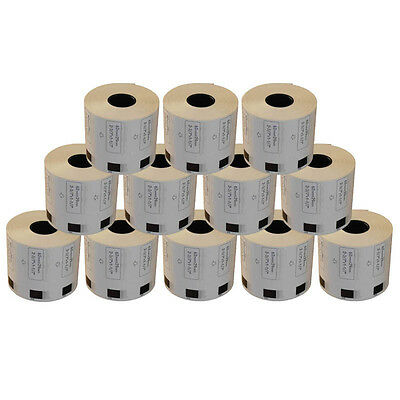 AFTERMARKET 12 REFILL ROLLS DK11209 ADDRESS LABELS 29x62mm FOR BROTHER DK 11209