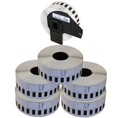 5+1 ROLL DK22210 DK 22210 BROTHER COMPATIBLE CONTINUOUS LABELS 29mm x 30.48m