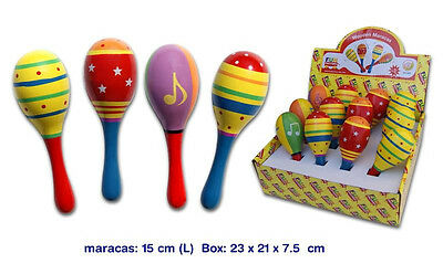 NEW Children's Musical Instrument Wooden Shaker Maraca 15cm