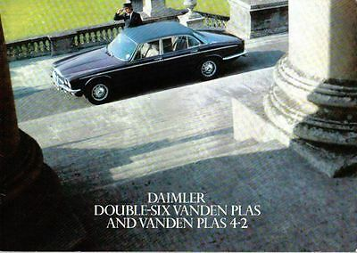 Daimler XJ Double Six 4.2 Vanden Plas 1975-77 Original UK Sales Brochure