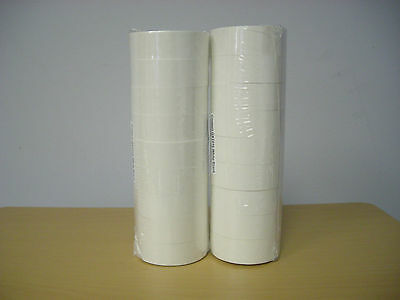 20 Rolls X1,000 Tags labels Refill for One Line Price Gun White Blank 5500