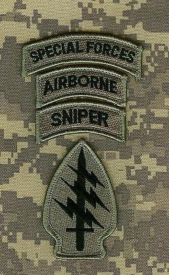 KANDAHAR TALIZOMBIE© WHACKER PRO-TEAM SPECIAL FORCES ACU SET w/AIRBORNE/SNIPER