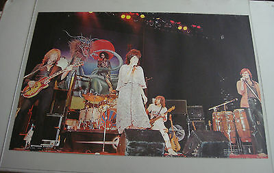 Vintage Jefferson Starship Poster 1976 One Stop Posters Spitfire Very Good Cond
