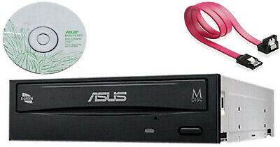 Asus Internal SATA 24x DVD CD +/-RW DL media Disc Burner Writer Drive + software