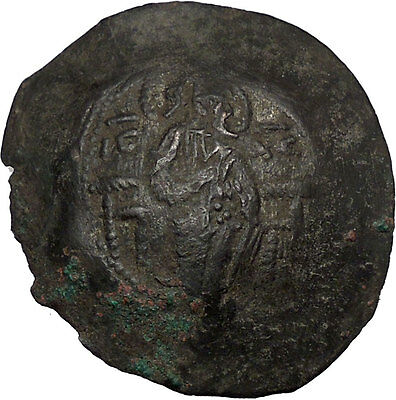 Latin Rulers of Constantinople 1204-1261AD Byzantine Coin Virgin Christ  i33400