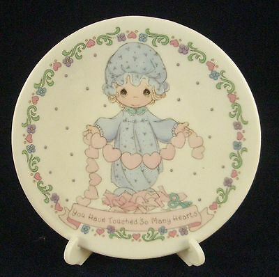 "Enesco 1992 Precious Moments 4"" Collector Plate You Have Touched So Many Hearts"