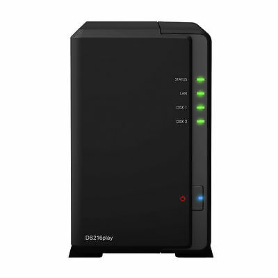 Synology DiskStation DS216play 2-Bay NAS Server 4K Ultra HD Video Transcoding