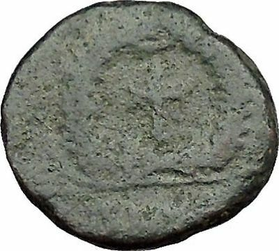 THEODOSIUS II 425AD  Ancient Roman Coin Cross within wreath of success  i33083