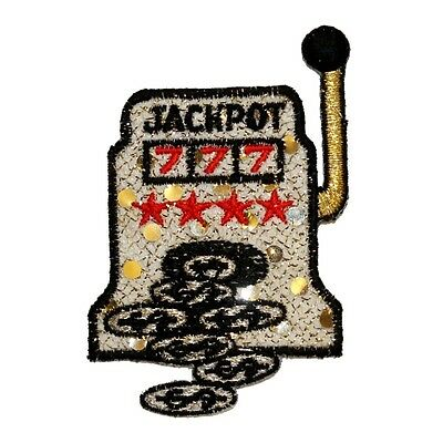 ID 0085 Slot Machine Las Vegas Patch Gambling Embroidered Iron On Applique