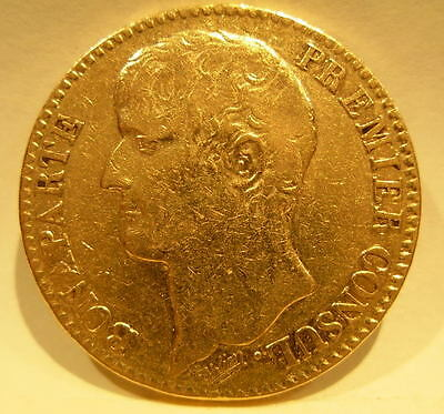 France AN12A (1803-04) Gold 40 Francs Napoleon 1 as First Consul