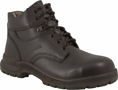 Kings 15434 (15-434) Lace Up Safety/Work Boot - Steel Toe/Cap - Black