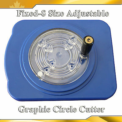 Cut 8  Graphic Paper Cutter Button Maker Fixed Size Rotary Circle  Adjustable