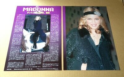 2005 Madonna 2pg 2 photo JAPAN mag article / pinup / clippings cuttings