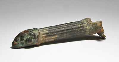 Ancient Roman Ram's Head Patera Bronze Handle