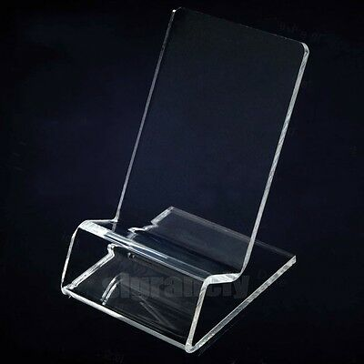 Lot Acryl  Clear Show Rack Display Holder Stand Mount for iphone 4 5 Cellphone