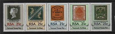 South Africa 1990 National Stamp Day SG 705/9 MNH