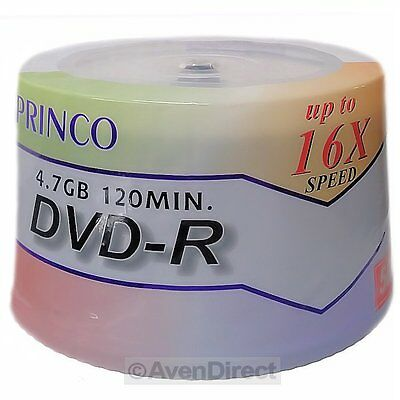 200 New Princo 16X White Lacquer 4.7GB 120 Min DVD-R [FREE USPS Priority Mail]