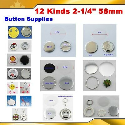 "2-1/4"" 58mm Kinds of Button Badge Supplies Pin Magnetic Mirror Keychain Maker"