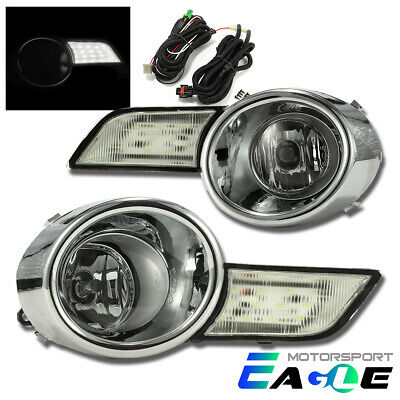 2008 2009 2010 Toyota Highlander Euro Style LED DRL Clear Fog Lights Lamps Pair