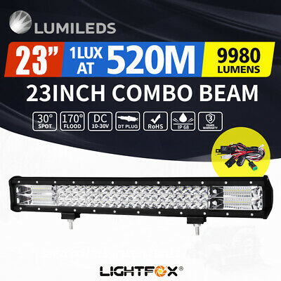 42inch 648W LED Light Bar Philips Spot Flood Combo Offroad Work Driving 4WD
