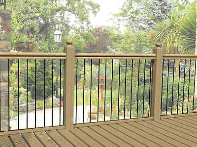 Heavy Duty Metal decking railing panels / fence infill rails / steel balustrade
