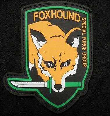 Metal Gear Solid Foxhound Special Forces Ps3 Xbox Pvc Velcro® Brand Patch
