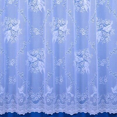 Love Birds Doves Premium Quality Net Curtain - Sold By The Metre - Free Postage!