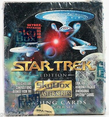 NOS - Vintage 1993 STAR TREK SkyBox Master Series Trading Cards Box NEW sealed