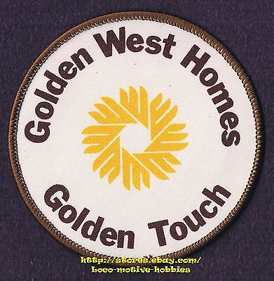 PATCH Badge  GOLDEN WEST HOMES TOUCH  Modular Mobile Manufactured Houses Home 4'
