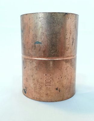 "NIBCO 1 ¾"" copper coupling with rolled stop C x C WROT"