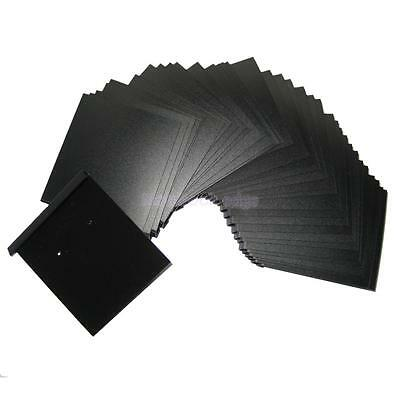 """100pc Black Hanging Earring Ear Studs Cards Jewelry Display Hang Tag 2"""" x 2.2"""""""