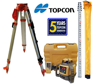 Topcon RL-H5A DB Package PLUS 13 Foot Rod in Tenths & Tripod