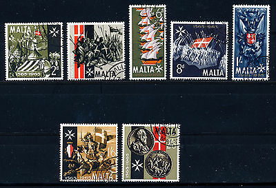 Malta 1965 Anniversary Of The Great Siege Sg352/358  Fine Used